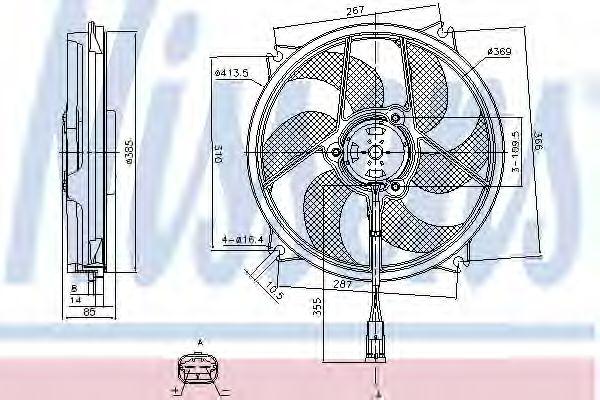 Вентилятор радіатора NISSENS 85561