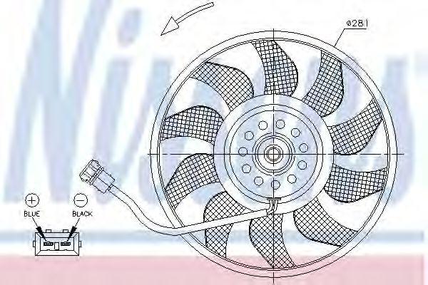 Радіатор охолодження NISSENS 85618