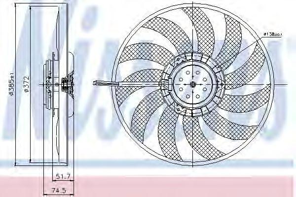 електровентилятор NISSENS 85638