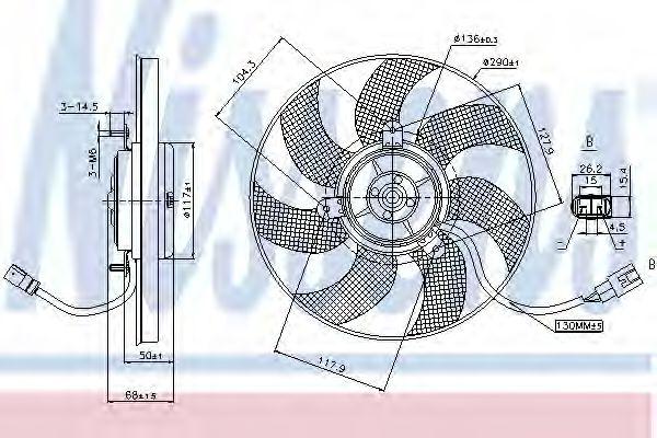 Вентилятор двигателя SEAT; VW; SKODA; AUDI (пр-во Nissens)                                           NISSENS 85680