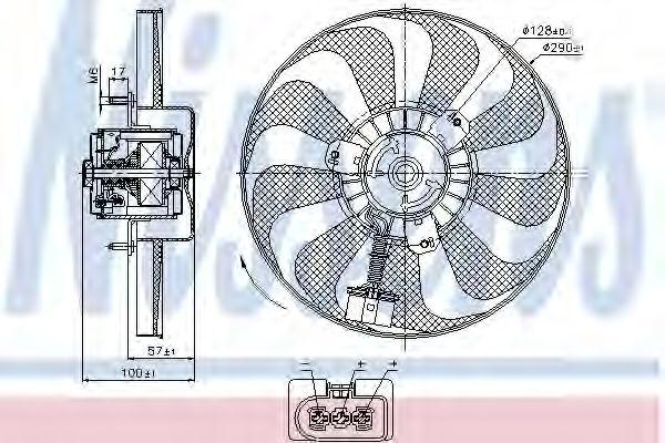 Вентилятор радіатора NISSENS 85684