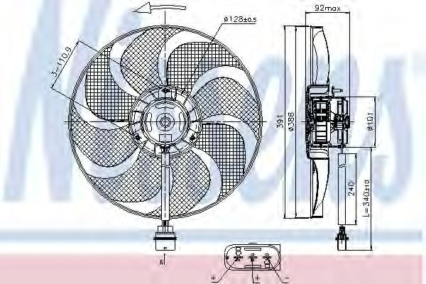 Радіатор охолодження NISSENS 85690