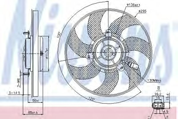 Вентилятор двигателя SEAT; VW; SKODA; AUDI (пр-во Nissens)                                           NISSENS 85733