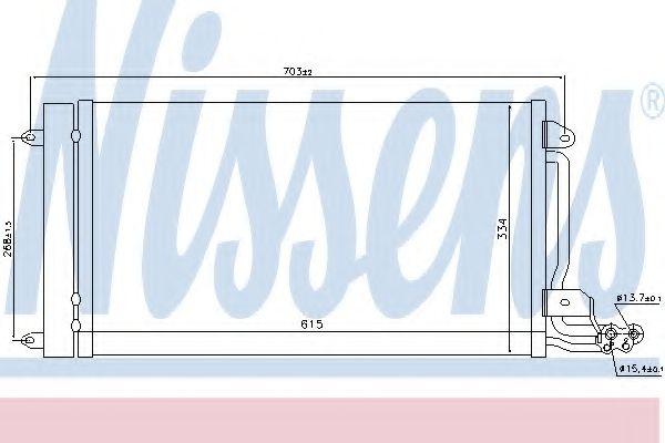 Радіатор охолодження NISSENS 940093