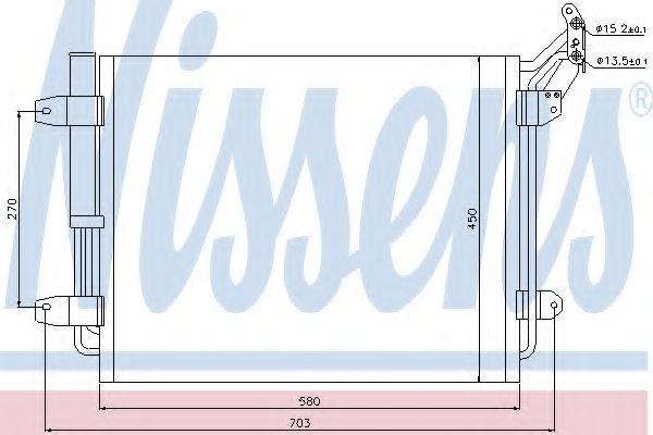 Радіатор охолодження NISSENS 940138
