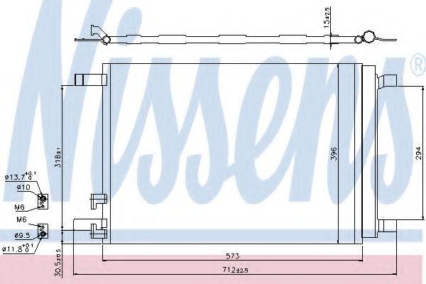 Радіатор охолодження NISSENS 940319