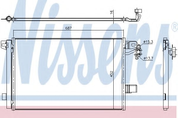 Радіатор охолодження NISSENS 940345