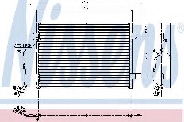 Радіатор охолодження NISSENS 94207