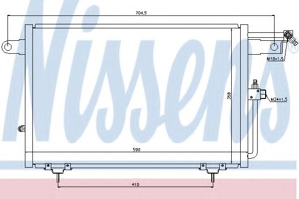 Конденсатор кондиционера AUDI 100 (C4) (90-) /A6/S6 (C4) (94-) (пр-во Nissens)                       NISSENS 94213
