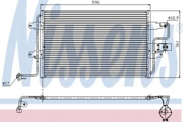 Радіатор охолодження NISSENS 94310