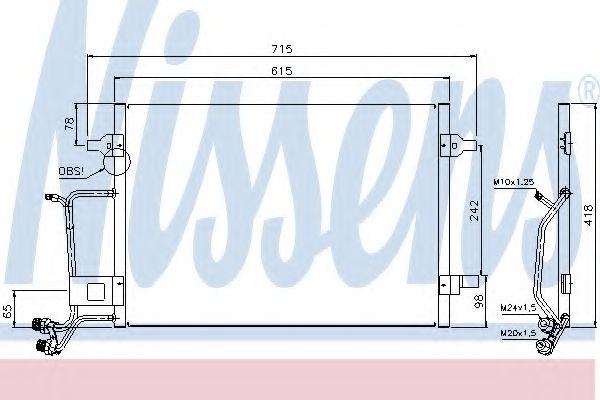 Конденсатор кондиционера AUDI; VW (пр-во Nissens)                                                    NISSENS 94594