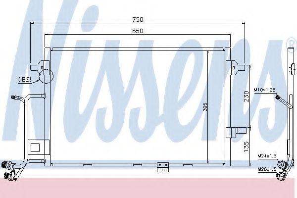Радіатор охолодження NISSENS 94430