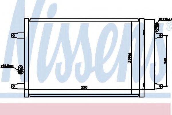 Радіатор охолодження NISSENS 94575
