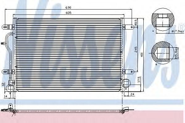 Конденсатор кондиционера AUDI; PORSCHE; VW (пр-во Nissens)                                           NISSENS 94665
