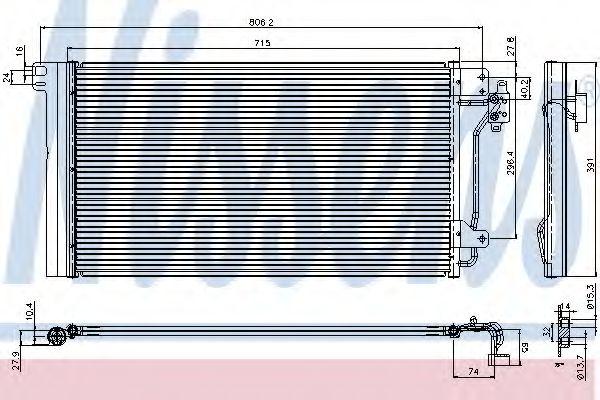 Радіатор охолодження NISSENS 94604