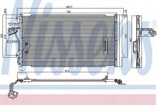 Радіатор охолодження NISSENS 94667