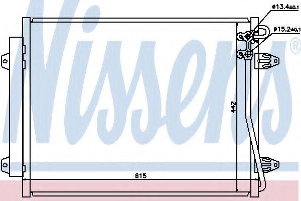 Радіатор охолодження NISSENS 94832