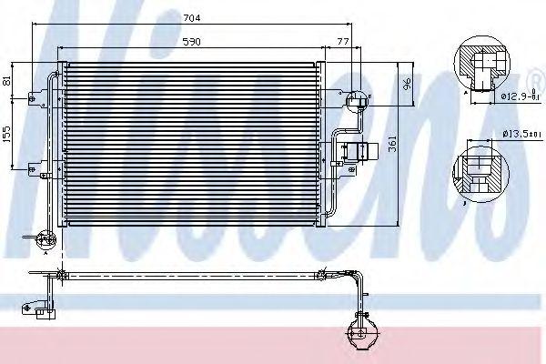 Радіатор охолодження NISSENS 94838