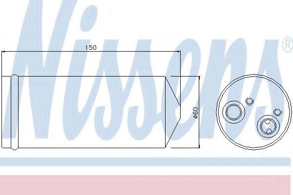 Осушитель DAEWOO LANOS (97-) 1,3-1,6 (пр-во Nissens)