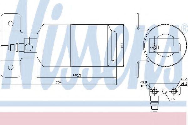 Радіатор охолодження NISSENS 95169