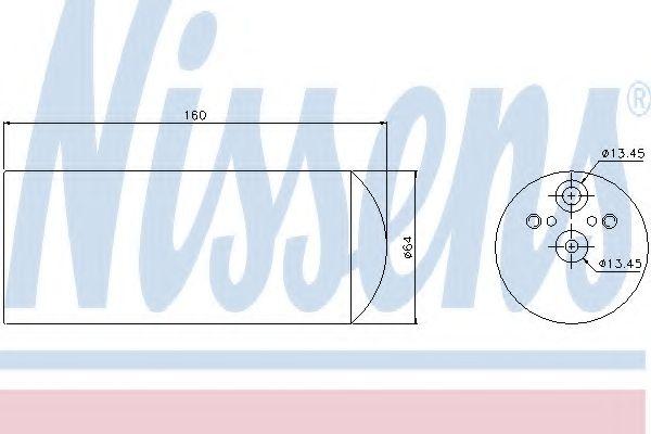 Осушитель кондиционера BMW 3 (E46), 5 (E39), X3 (E83) (пр-во Nissens) в интернет магазине www.partlider.com