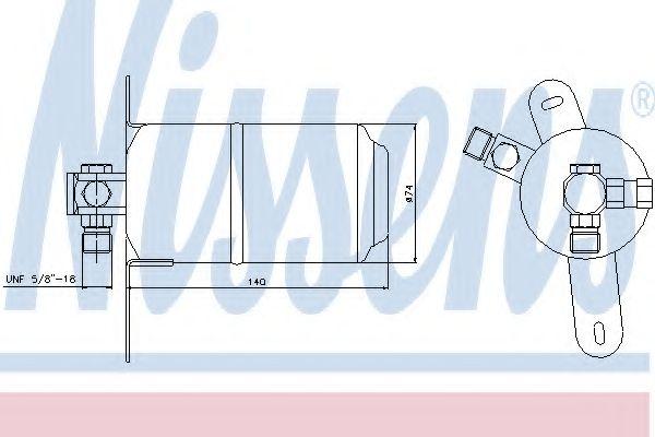 Осушитель кондиционера MERCEDES E-CLASS W 210 (95-) (пр-во Nissens) в интернет магазине www.partlider.com