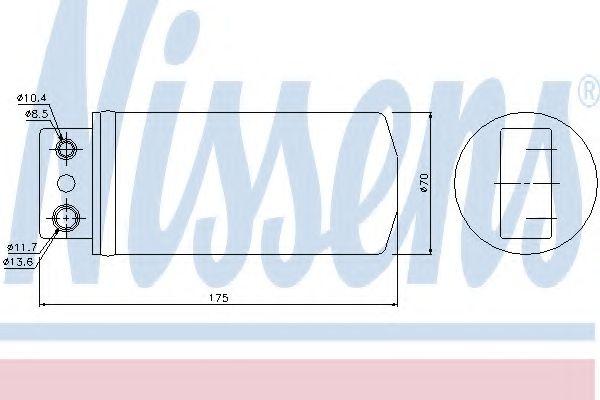 Осушитель кондиционера OPEL OMEGA B (94-) (пр-во Nissens) в интернет магазине www.partlider.com
