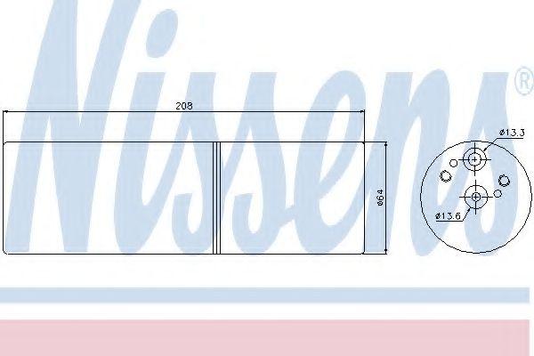 Радіатор охолодження NISSENS 95231