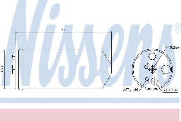 Осушитель кондиционера NISSAN PRIMERA (P11, W11) (96-) (пр-во Nissens) в интернет магазине www.partlider.com