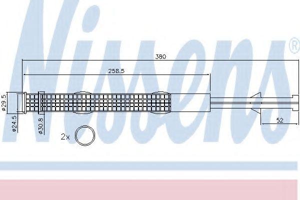Радіатор охолодження NISSENS 95359