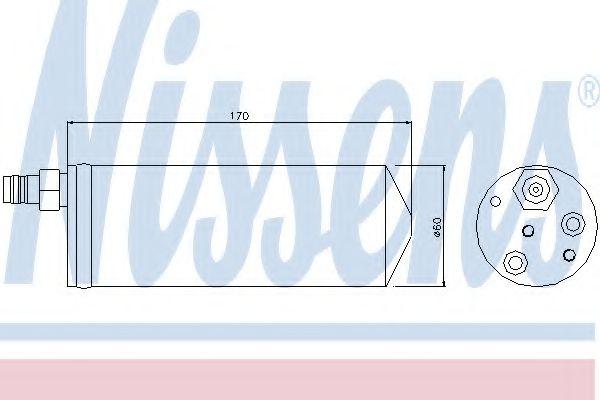 Радіатор охолодження NISSENS 95363