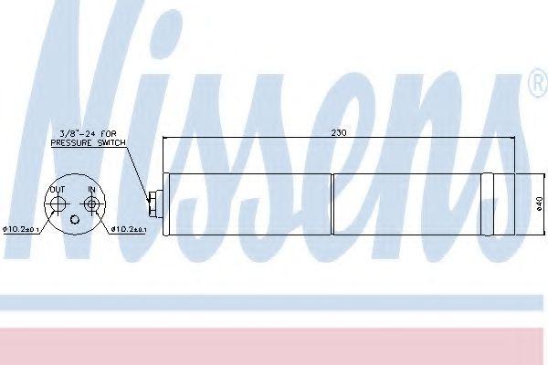 Осушитель кондиционера NISSAN (пр-во Nissens) в интернет магазине www.partlider.com
