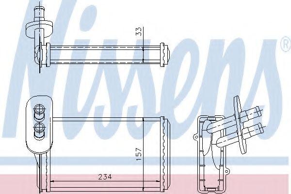 Радиатор печки AUDI, SEAT, VW (пр-во Nissens)                                                        NISSENS арт. 73962