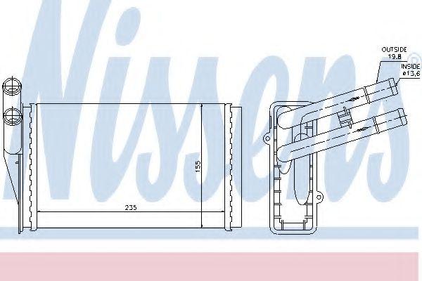 Радіатор охолодження NISSENS 70224