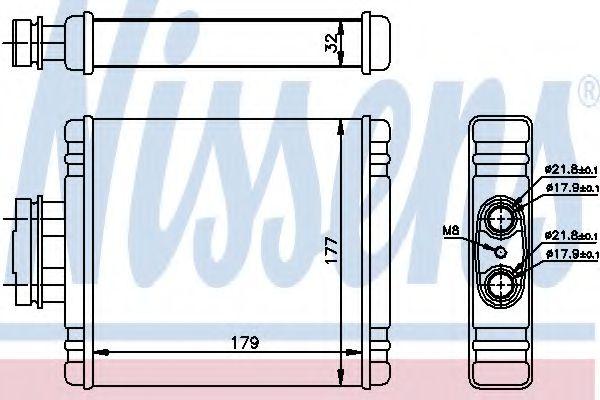 Радіатор охолодження NISSENS 73654