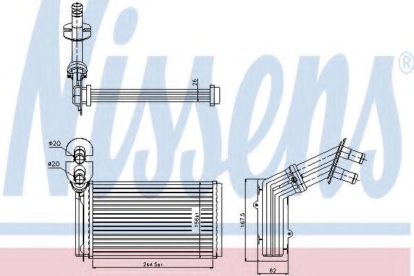 Радіатор охолодження NISSENS 73973