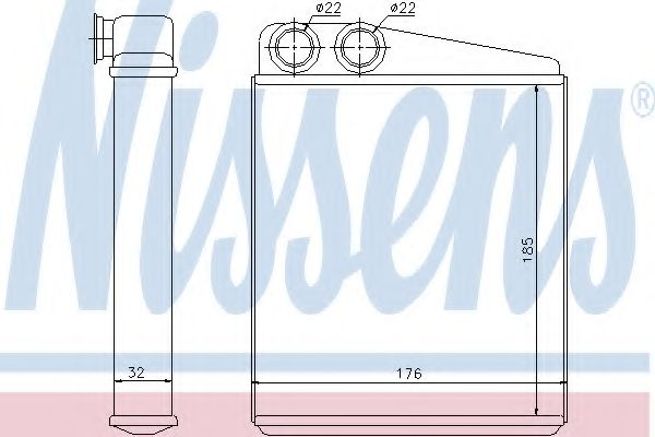 Радіатор охолодження NISSENS 70228
