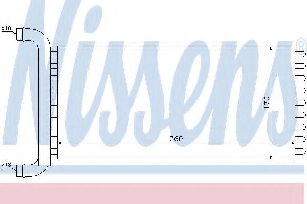 Радіатор охолодження NISSENS 72041