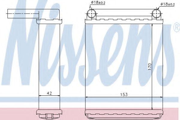 Радіатор охолодження NISSENS 72038