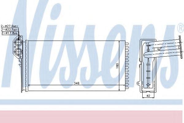 Радіатор охолодження NISSENS 73941
