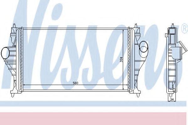 Интеркулер Интеркулер NISSENS арт. 96838