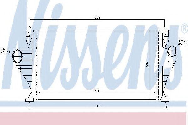 Интеркулер Интеркулер NISSENS арт. 96853