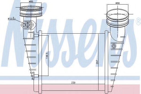Радіатор охолодження NISSENS 96731