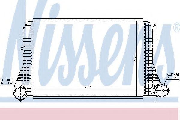 Радіатор охолодження NISSENS 96715