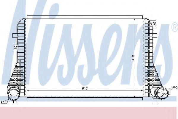 Радіатор охолодження NISSENS 96568