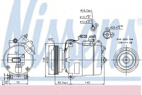 компресор кондиціонера NISSENS 89027