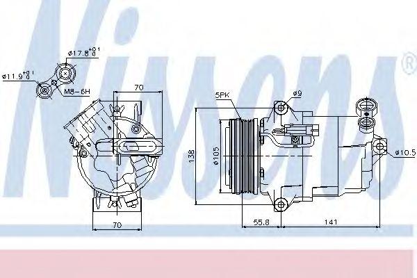 компрессор кондиционера OPEL ASTRA H   04- (Nissens)                                                 NISSENS 89038