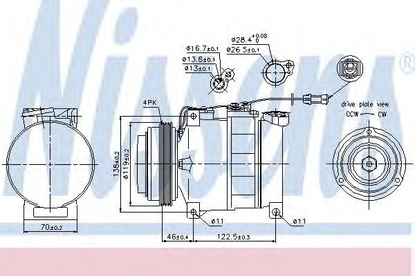 Компрессор кондиционера AUDI, SKODA, VW (Пр-во Nissens)                                              NISSENS 89045