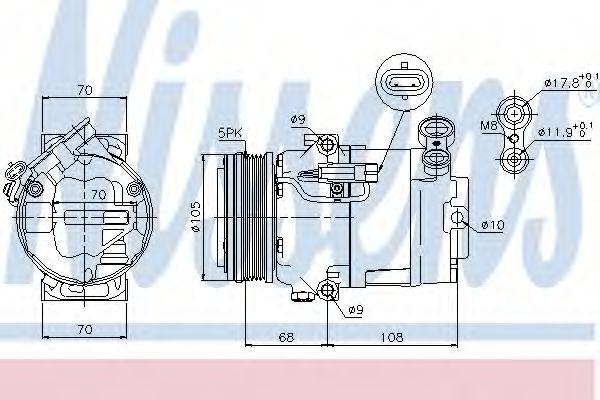 компрессор кондиционера OPEL ASTRA H  04- (Nissens)                                                  NISSENS 89050