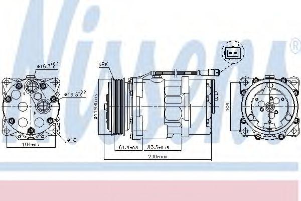 Компрессор кондиционера CITROEN; FIAT; PEUGEOT (пр-во Nissens)                                       NISSENS 89055